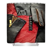 Leather Gloves Shower Curtain