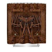Leather Man In A Leather Collage Shower Curtain