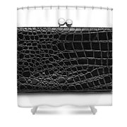 Leather Purse Shower Curtain