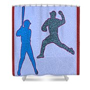 Leather Texture Art Bowler And Pitcher Base Ball Game Sports Competition Shower Curtain
