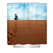 Leave Only Footprints Behind.. Shower Curtain