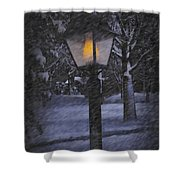 Leave The Light On Shower Curtain