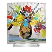 Leaves And Fronds Shower Curtain