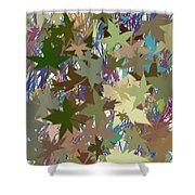 Leaves And Grass Abstract Shower Curtain