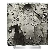 Leaves In Rain Shower Curtain