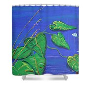 Leaves In The Wind Shower Curtain
