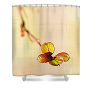 Leaves On Linen Shower Curtain
