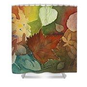 Leaves Vl Shower Curtain