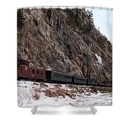 Leaving Cascade Canyon Shower Curtain