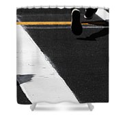 Leaving Leaps Shower Curtain