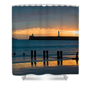 Leaving Port Shower Curtain