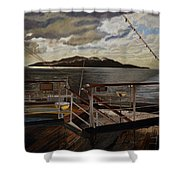 Leaving Queen Charlotte Sound Shower Curtain