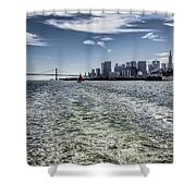 Leaving San Francisco Shower Curtain