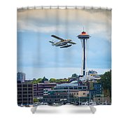 Leaving Seattle Shower Curtain