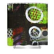 Leaving The Dark Abstract  Shower Curtain