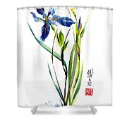 Leaving Zen Shower Curtain
