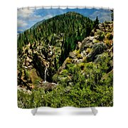 Leavitt Falls From Afar Shower Curtain