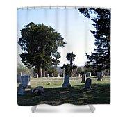 Lebanon Cemetery Oklahoma Shower Curtain