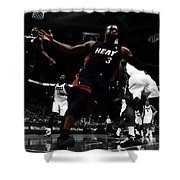 Lebron And D Wade Showtime Shower Curtain