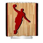 Lebron James Miami Heat Shower Curtain