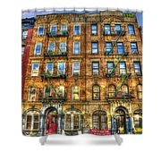 Led Zeppelin Physical Graffiti Building In Color Shower Curtain