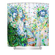 Led Zeppelin - Watercolor Portrait.2 Shower Curtain