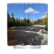 Ledge Falls Maine Shower Curtain
