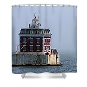 Ledge Light - Connecticut's House In The River  Shower Curtain