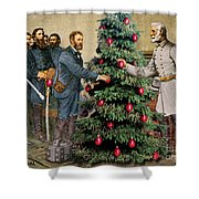Lee And Grant At Appomattox Shower Curtain