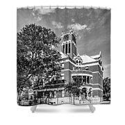 Lee County Courthouse In Giddings Texas Shower Curtain