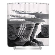 Lee Marvin Monte Walsh Collage Variation 2 Old Tucson Arizona 1969-2012 Shower Curtain