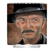 Lee Van Cleef As Angel Eyes In The Good The Bad And The Ugly Version II Shower Curtain