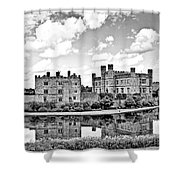 Leeds Castle Black And White Shower Curtain