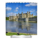 Leeds Castle Moat 2 Shower Curtain