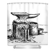 Lee's Anvil Shower Curtain