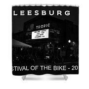 Leesburg Bikefest 2013 Poster Work One Shower Curtain
