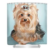 Leetl Luloo Zazu  Shower Curtain