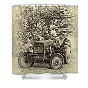 Left Fielder Antique Shower Curtain