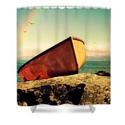 Left High And Dry Shower Curtain