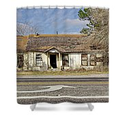 Left Turn Shower Curtain