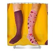 Leg Girls Shower Curtain