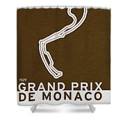 Legendary Races - 1929 Grand Prix De Monaco Shower Curtain
