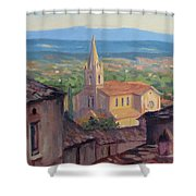 L'eglise Sur La Colline Shower Curtain
