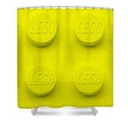 Lego Block Yellow Shower Curtain