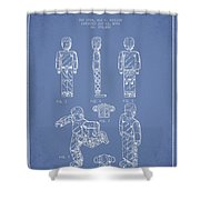 Lego Toy Figure Patent - Light Blue Shower Curtain