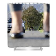 Legs And Car Shower Curtain