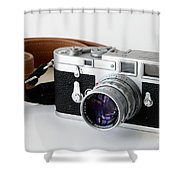 Leica M3 With Leather Strap Shower Curtain