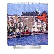 Leiden Canal Shower Curtain