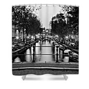 Leidsegracht Canal At Night / Amsterdam Shower Curtain