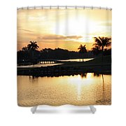 Lely Sunrise Over The Flamingo Shower Curtain